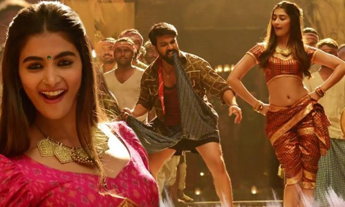 Rangasthalam Ram Charan and Pooja Hegde Jigel Rani Song