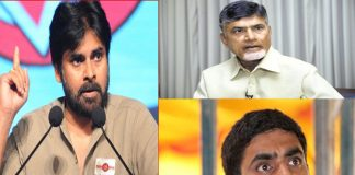 Janasena chief pawan kalyan setairs on chandra babu and lokesh