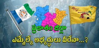 Prakasam District 2019 Elections MLA Candidates List..?