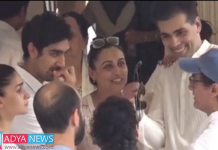 Karan Johar, Aamir Khan and Rani Mukerji trolled for laughing at Krishna Raj Kapoor funeral