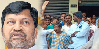 Slippers attack on tdp leader l.ramana