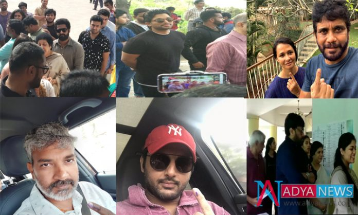 Telangana Election 2018 : tollywood celebrities cast votes in Telangana polls