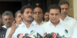 TRS Working President KTR Metto YS Jagan after Pressmeet