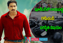 Hero gopichandh injured in roda accident