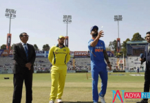 5th odi: aus team won the toss and elected bat first