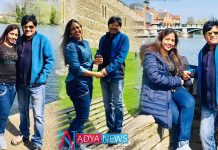 Comedian ali enjoyed with family in london