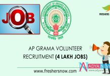 AP Governement released notification 4 Lakh Village Volunteer Jobs
