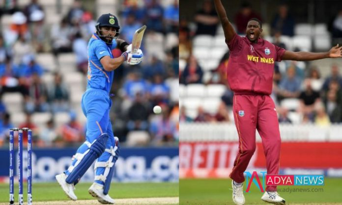 India vs West Indies , CWC 2019 : Team India vs West Indies ICC Cricket World Cup 2019 today