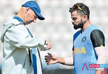 Cricket World Cup 2019 : Virat Kohli Cleared off Injury Concern After Hurting Thumb in Training