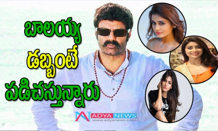 Young heroines competing to pair with Balayya