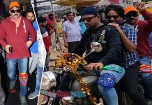 Ram Gopal Varma going in Bike To Watch Ismrat Shankar