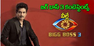 List of contendates who will be participating in Bigg Boss 3 Telugu season