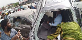Three died and two people injured in a car accident at Shamirpet