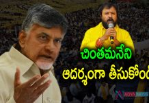 Chandrababu Shocking Comments on Chintamaneni Prabhakar