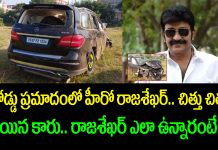 hero rajasekhar met with an accident on hyderabad