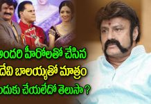 Why Doesn't Sridevi Work With Nandamuri Balakrishna