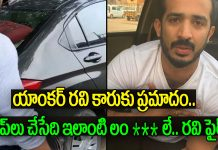 anchor ravi met with an accident gives clarity on his accident