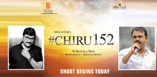 Koratala Siva and Chiranjeevi 152 Movie Shooting Begins