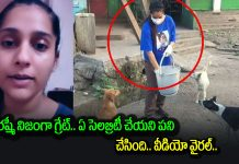 rashmi gautam on road to feed dogs