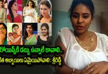 sri reddy shocking comments on heroines