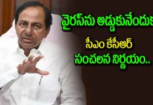 KCR sensational decision on pandemic outbreak