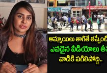 sri reddy warns shooting women on videos at wine shops