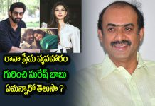 Suresh Babu opens up on Rana and Miheeka Bajaj Love Affair