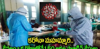 Positive for 1.50 lakh people per day