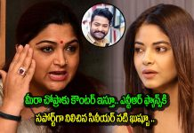 senior actress khushbu sundar indirect counter on meera chopra