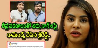Sri reddy comments on chiranjeevi and nagarjuna goes viral