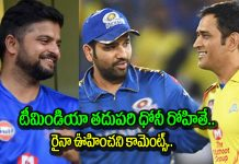 suresh raina names rohit sharma as the next ms dhoni of indian cricket