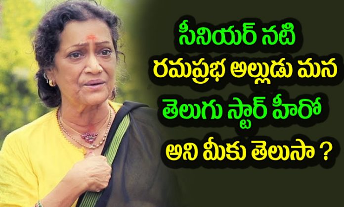 Do You Know who is Ramaprabha's Son in law
