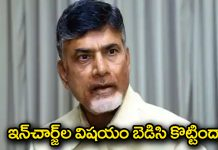 chandrababu parliament in charge issue