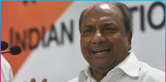 Former Defense Minister AK Antony tested Positive