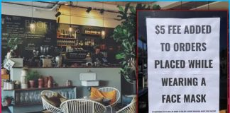 California cafe charges 5 dollars from people wearing maskCalifornia cafe charges 5 dollars from people wearing mask