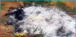 old man cremated alive in siddipet district
