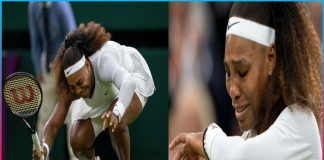 serena williams retires from wimbledon with tears