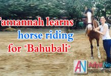 Tamanna learns horse riding for