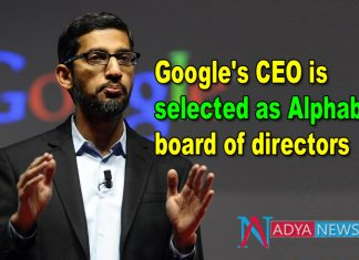 Google's CEO Sundar Pichai is selected as Alphabet board of directors