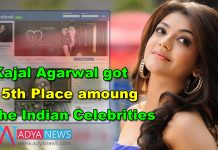 Kajal Agarwal got 15th Place amoung the Indian Celebrities