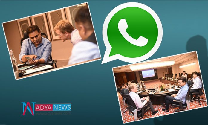 WhatsApp Customer Service Centre in Hyderabad : Telangana Minister KTR