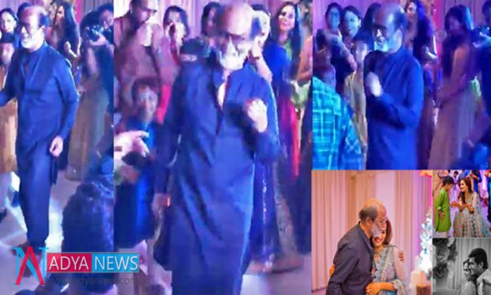 People Shocked With Super Star Rajini's Dance Steps in Daughter's Marriage