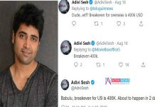 Is Adivi Sesh Made a Success Mistake On Twitter Post