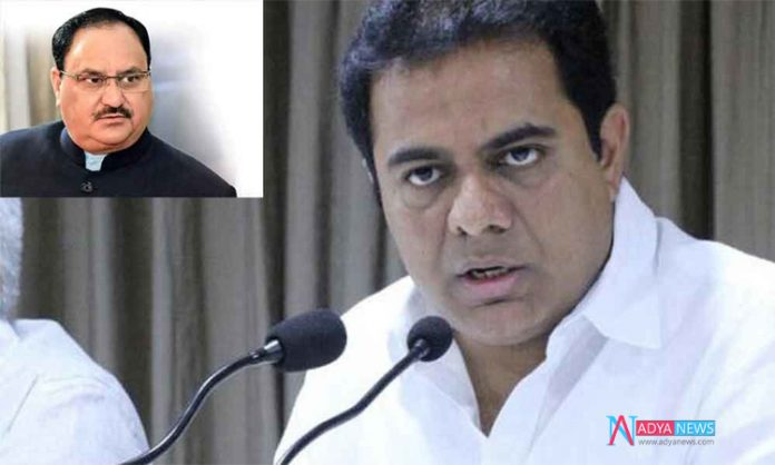 KTR Made Reverse Attack On BJP Working President JP Nadda