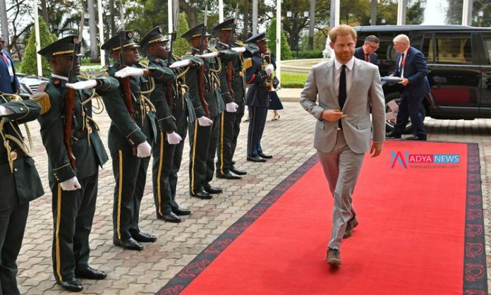 Britain's Prince Harry began his first official visit