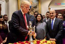 US President Donald Trump celebrates Diwali at the White House