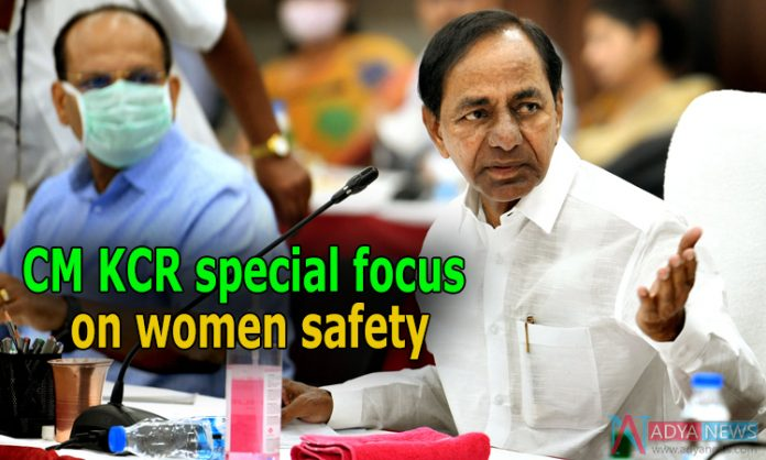 CM KCR special focus on women safety