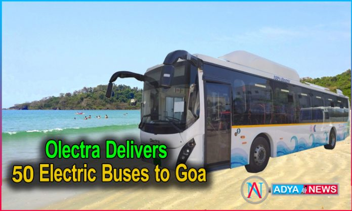 Olectra Delivers 50 Electric Buses to Goa