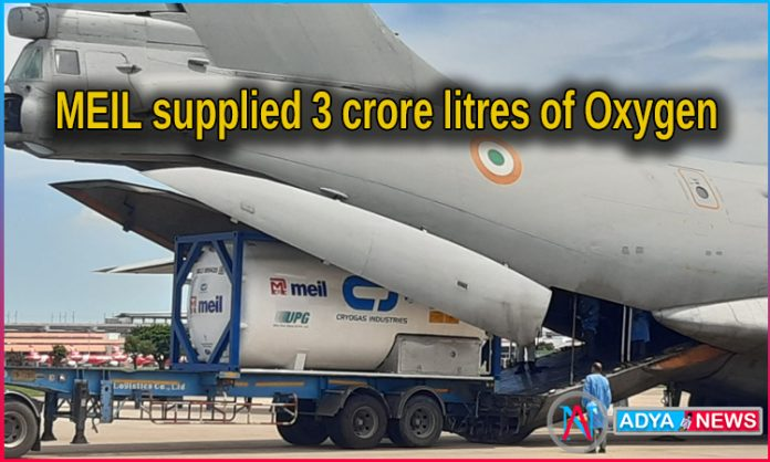 MEIL imports 11 Cryogenic tanks for Telangana govt to mitigate O2 crunch